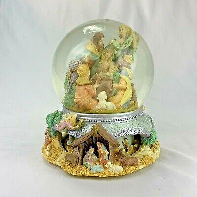 San Francisco Music Box Co Christmas Nativity Snow Globe O Holy Night MOTION