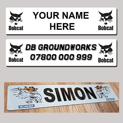 Bobcat Digger Excavator Bulldozer  Loader truck Name Plate Show Quality usato  Spedire a Italy