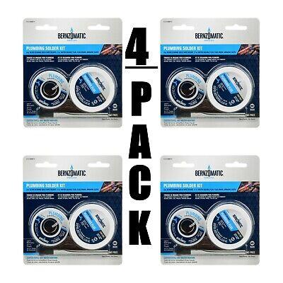 4 Pack Bernzomatic Plumbing Solder Kit