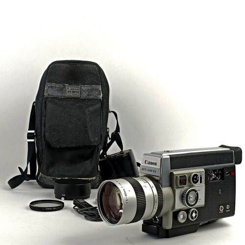 N-Mint  Canon Autozoom 814 Super 8 Camera With Case - Tested & Working