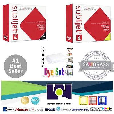 Sawgrass Sublimation Ink Black Yellow Cartridges For Sg400sg800 Free Paper