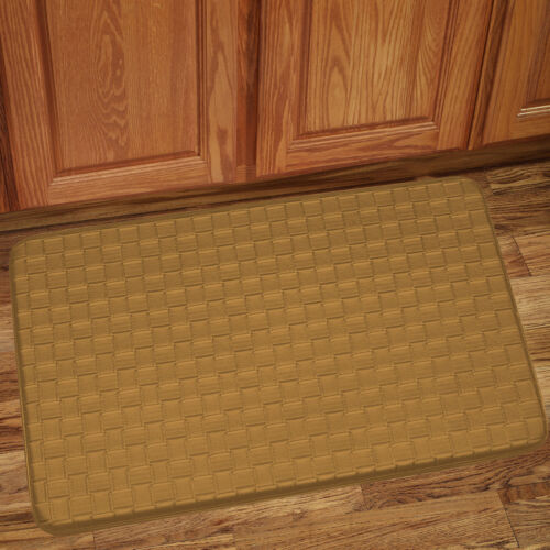 Memory Foam Anti Fatigue Kitchen Floor Mat Rug 30″ x 18″ – Playa Tan Door Mats & Floor Mats