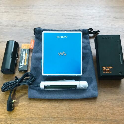 Sony MZ-E620 MD Walkman Portable Player MDLP Blue Working Perfectly