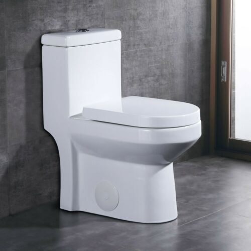 DeerValley Small Compact Dual Flush One Piece Toilet for Water Closet