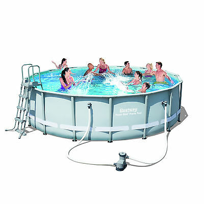 "Bestway 16ft x 48""Above Ground Frame Swimming Pool with Accessories (56451)"