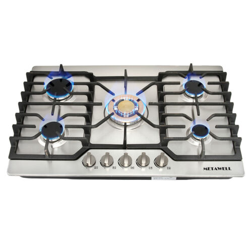 """NG/LPG GAS Hob Cooker Stoves Cooktops 30"""" Stainless Steel Go"""