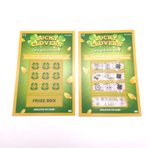 (10) Pregnancy Announcement Scratch Off Cards - Baby Announcement Fake Lottery