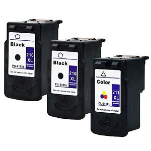 3-Pk-Canon-PG-210XL-CL-211XL-Ink-Cartridge-For-PIXMA-MX360-MX410-MX420-Printer