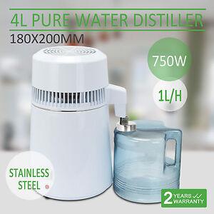 750W 4L Stainless Steel Water Filter Distiller Purifier Dental Lab Machine Home