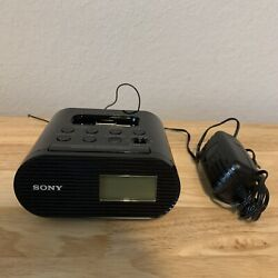 Sony iPhone/iPod Speaker Dock ICF-CO5iP with Alarm Clock and FM Radio Tested