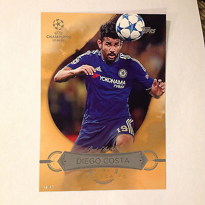 DIEGO COSTA Best of the Best #ed/10 made 2016 Topps soccer Champions 5X7