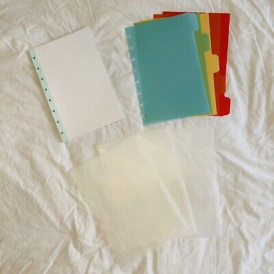 Martha Stewart Office Avery Discbound Inserts 5 Dividers 45 Pages 3 Pockets Arc