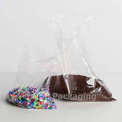 1000 Clear Polythene Plastic Bags 12 x 15 300x375mm 80g