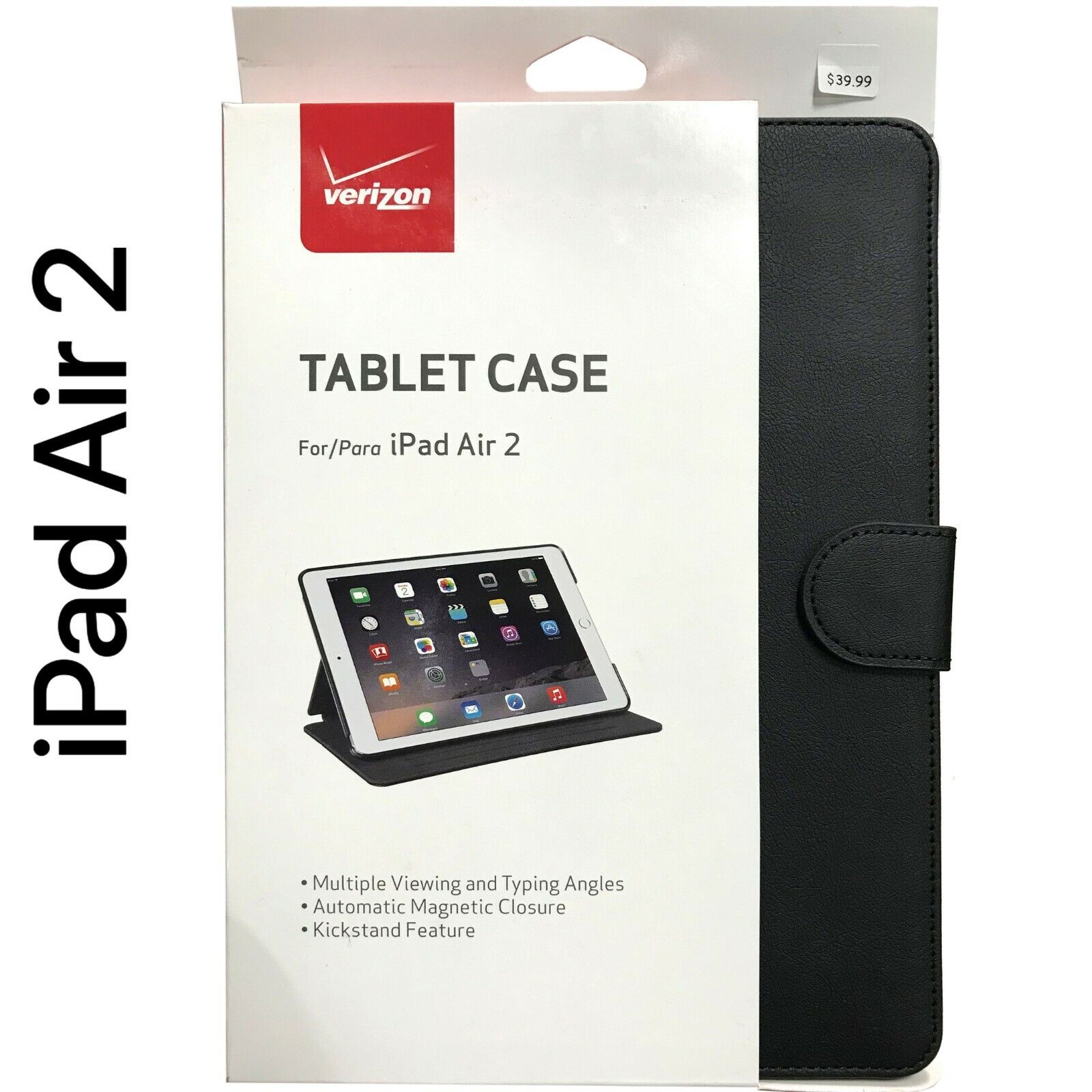 New Verizon OEM Tablet Leather Folio Case Cover For iPad Air