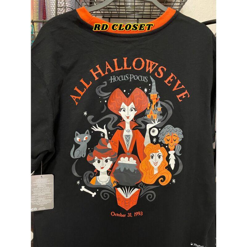Disney Halloween Hocus Pocus All Hallows Eve T-Shirt. Size Large