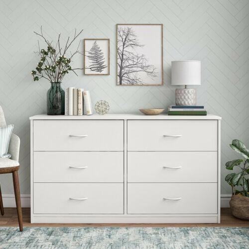 Mainstays Classic 6 Drawer Dresser, White Finish, Mainstays DW01598.