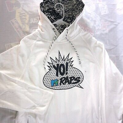 American Eagle x Yo! MTV Raps Hoodie Men's Size Large Hooded Sweatshirt 80's NEW
