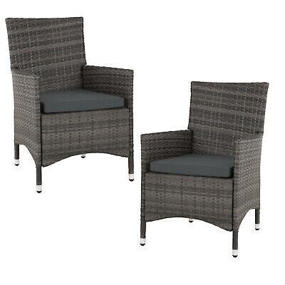 2er Set Rattan Stühle Gartenstuhl Sessel Rattanstuhl aus Aluminium BWare