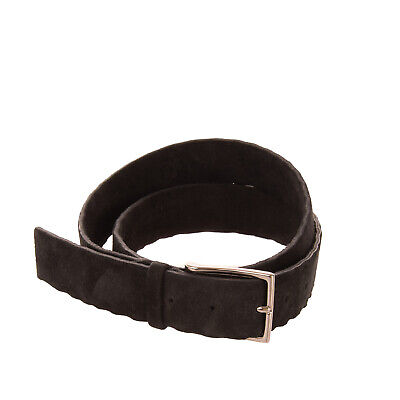 RRP €145 ORCIANI Suede Leather Belt Size 90/36 Crumpled Edges Pin Buckle Closure
