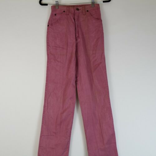 Vintage Deadstock 80's Wranglers Juniors Pink Jeans Sz 7 24x33 Made in USA