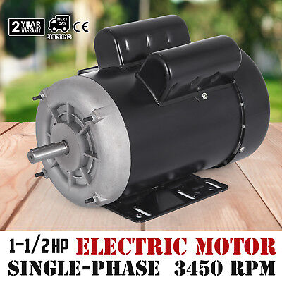 Electric Motor 1-12 Hp Single-phase 3450rpm Tefc 58 Shaft Machinery