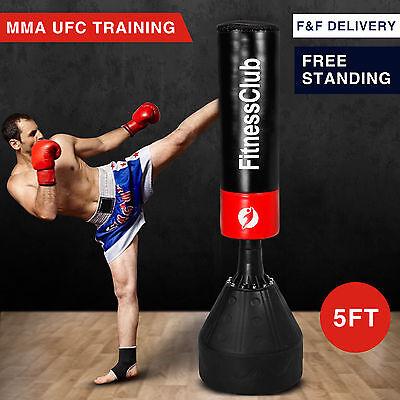 BN Art Training Free 5Ft Standing Boxing Punch Bag Kick Heavy Duty MMA Martial