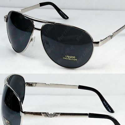 New Mens Womens Fashion Pilot Designer Sunglasses Shades Black Large Oversized