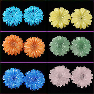 Carved-gemstone-flatback-flower-center-drilled-bead-30mm-1-2