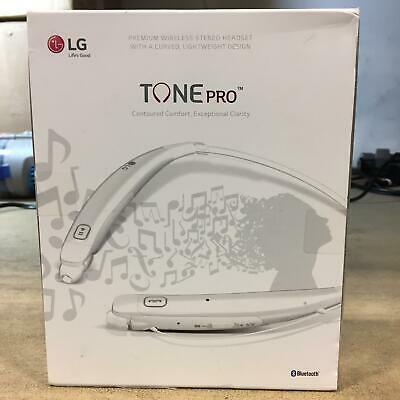LG Tone Pro HBS770 Wireless Bluetooth Stereo Headset with Magnetic Earbuds White