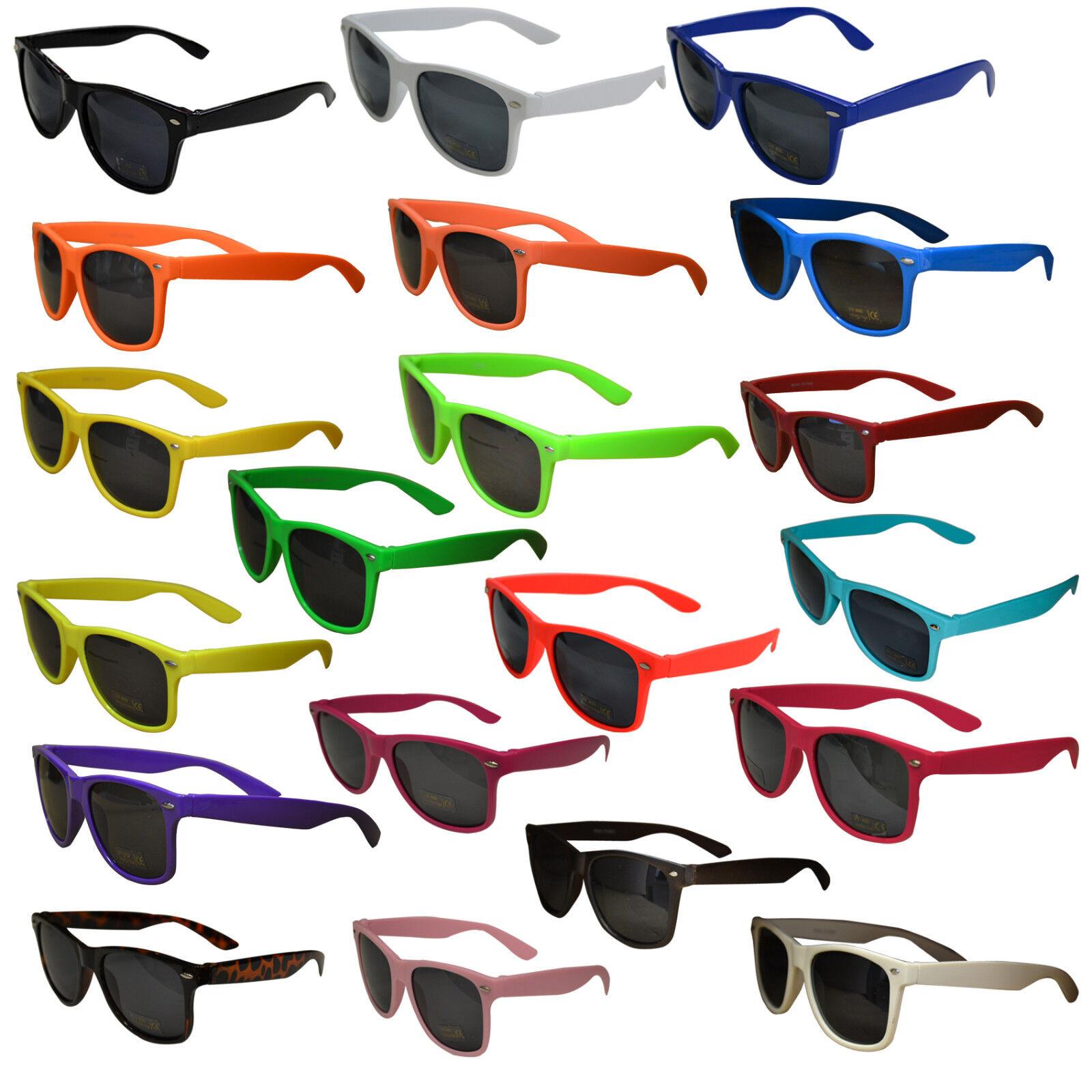 Sonnenbrille 80er Nerd Style Brille Schwarz Retro Atzenbrille Brillen UV 400 Hip