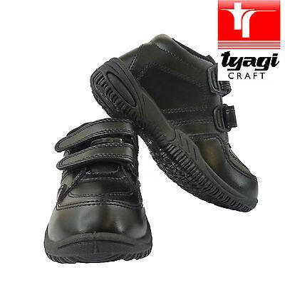 Boys School Uniform Shoes Black Child STICK Leather Back-to-School Comfort - Back To School Boys Shoes