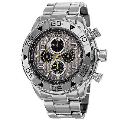 Men's Akribos XXIV AK814SSB Divers Bezel Chronograph Silver-tone Bracelet Watch