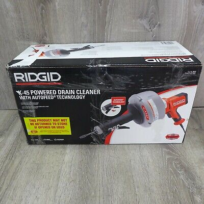 Ridgid K 45af Powered Drain Cleaner Handheld Autofeed 34 To 2-12 Drains New