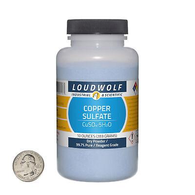 Copper Sulfate 10 Ounce Bottle 99.7 Pure Reagent Grade Dry Powder Usa