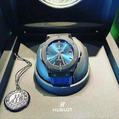 hublot classic fusion 45mm 511.CM.7170.LR CERAMIC CASE, Blue Strap and Blue Dial