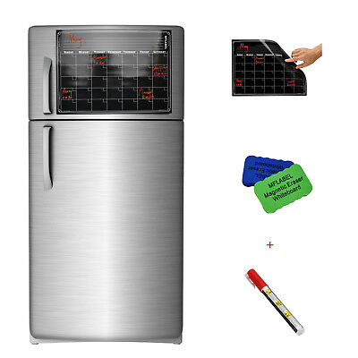 16 X 12 Refrigerator Calendar Monthly Dry Erase Magnetic Flexible Black Board