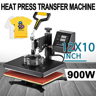 """Digital Heat Press Machine T-Shirt Sublimation 360 Swing Away Transfer 12""""x10"""", used for sale  Shipping to United Kingdom"""