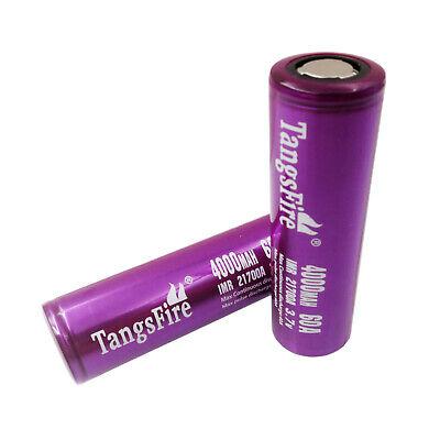 21700 IMR 4000mAh Li-ion 60A Batteries 3.7V Rechargeable Flat Top Battery segunda mano  Embacar hacia Argentina