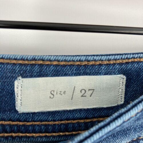 Anthropologie Pilcro And The Latterpress Size 27 Patchwork Denim Jeans Blue  - $37.49