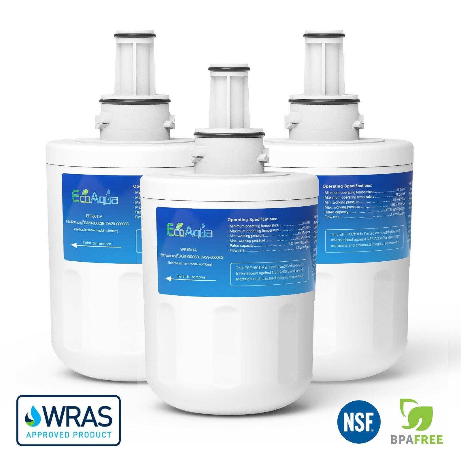 FFL-180S DA29-00003F Ice /& Water Fridge Filter to fit Samsung Aqua Pure PLUS