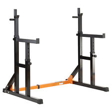 Mirafit Adjustable Squat Rack & Dip Stand Barbell/Weight Gym Bench Power/Lifting
