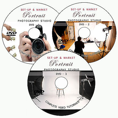 LEARN TO SET-UP/MARKET DIGITAL PORTRAIT STUDIO PHOTOGRAPHY TRAINING TUTORIAL DVD