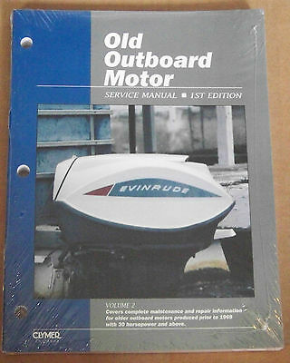 (Old Outboard Manual Clymer ProSeries Motor Volume Two Service Prior to 1969 New)