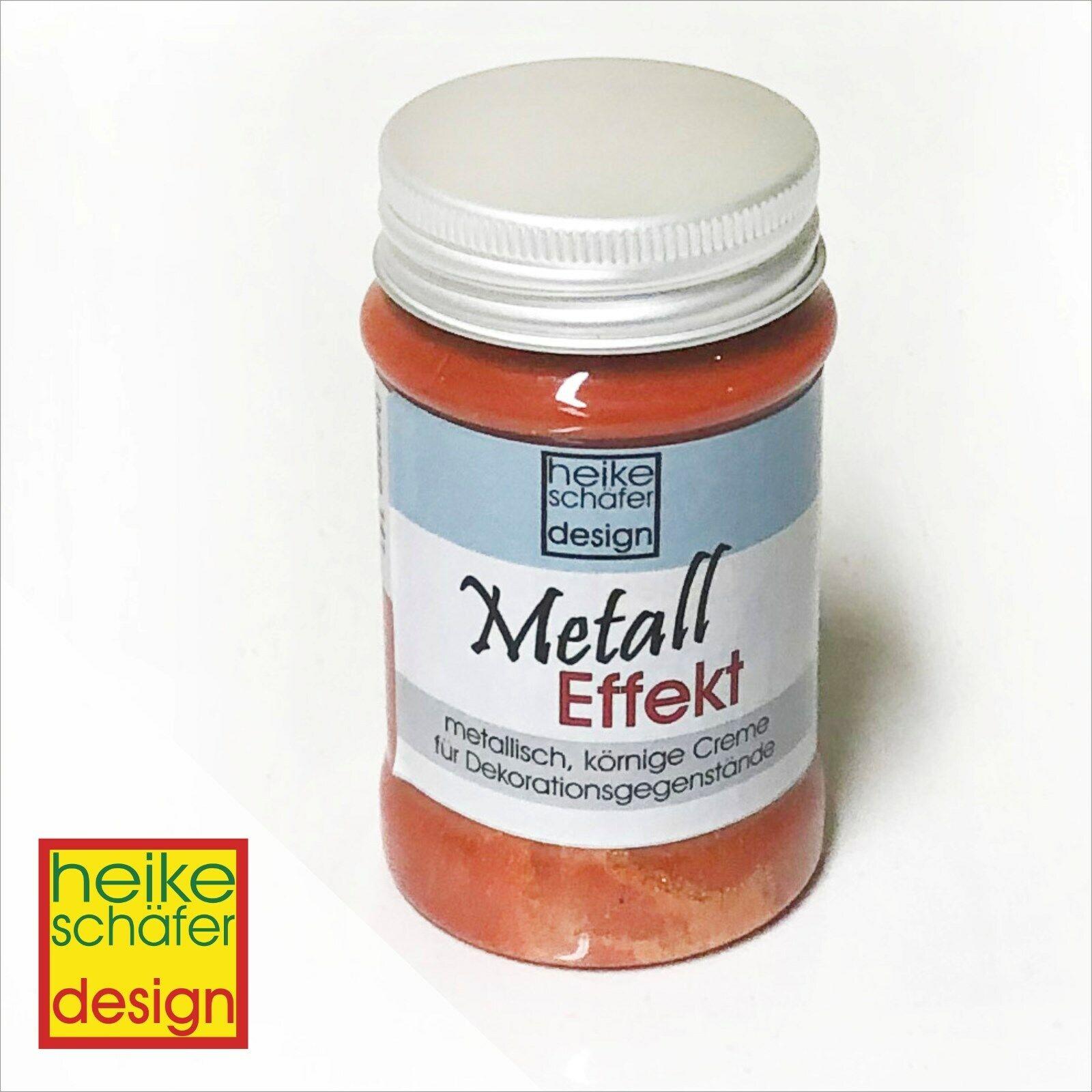 Metall Effekt Creme in Orange 90ml -Neu-  Heike Schäfer Design