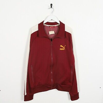 Vintage PUMA Small Logo Track Top Jacket Red | 2XL