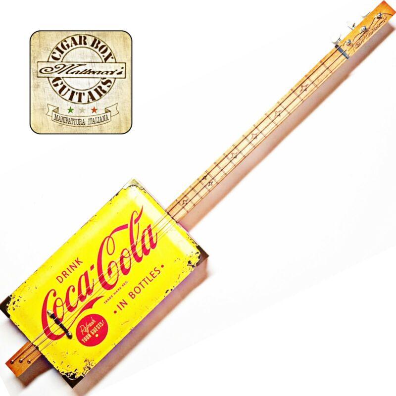 Coca Cola, 3 Sp Cigar Box Guitar Rober Matteacci