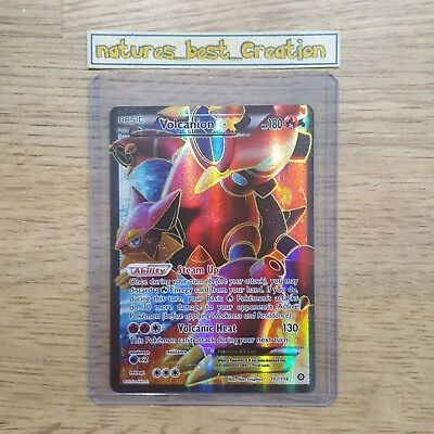MINT/NM Condition Volcanion EX 107/114 Holo/Shiny Pokemon Card, Steam Siege Rare