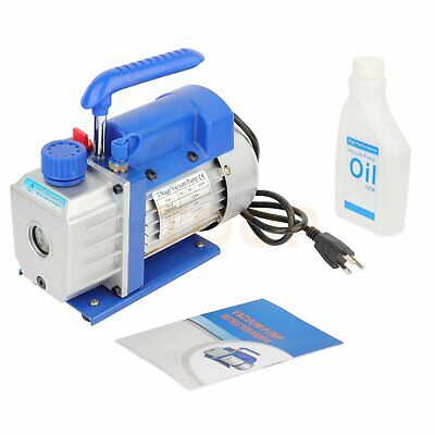 3cfm 14hp Hvac Deep Ac Vacuum Pump Refrigerant Conditioning Rotary Vane Hose