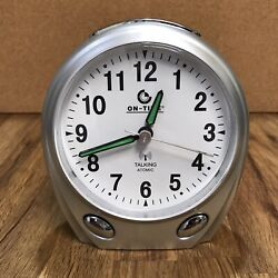 Classic Look Modern On-Time Talking Atomic Analog Alarm Clock Low Vision Aid