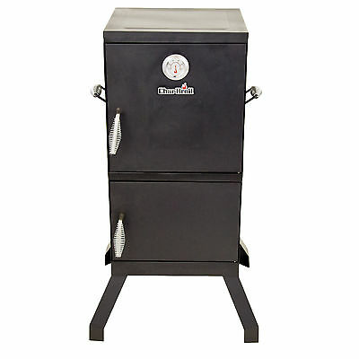 Charcoal Grill Smoker Vertical Meat Food Patios Backyard Barbeque Heat Flavor
